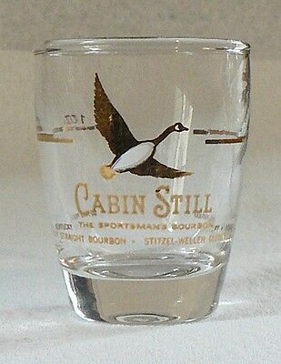 Cabin Still Whiskey Shot Glass With Gold Canada Goose