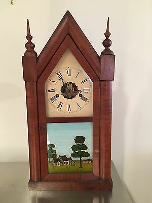 Antique Elisha Manross  Steeple Clock
