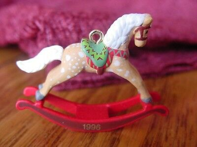 1996 Hallmark Rocking Horse MINIATURE CHRISTMAS ORNAMENT Series #9 Little PONY
