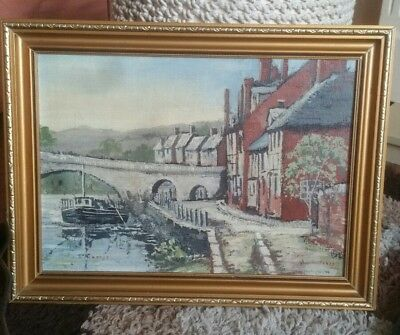 beautiful original acrylic painting on board dated 1985 Bewdley