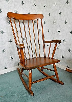 Vintage Rocking Chair With Beautiful Waxed Finish