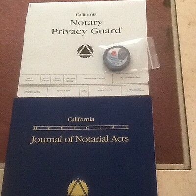 California Official Journal of Notarial Acts - Privacy Guard - Inkless Pad NEW
