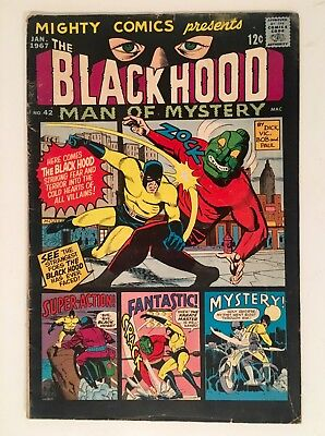 Mighty Comics Presents BLACK HOOD Man of Mystery 42 Jan 1967 Vintage Comic Book
