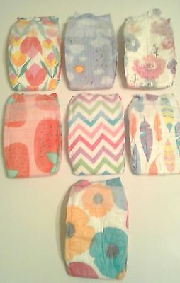 Honest Diapers for Girls Variety Pack 7 Count - Newborn - Reborn Doll Supplies