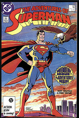 Adventures of Superman #424 9.0 (VF/NM): 1st New Series! Copper Key! $20 Value!