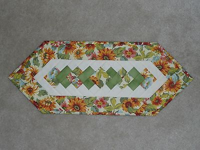 NEW quilted table runner, Longaberger Sunflowers, FALL, Floral, Orange & Greens