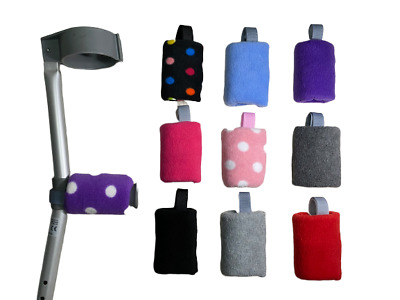 Crutch Handle Covers Pads EASY FIT Padded Foam Hand Comfy Crutch Covers