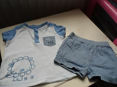 baby boy 6-9m month t shirt and shorts set summer cotton