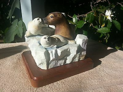 Cyrus Noble Decanter 1978 Mother Seal and Babies