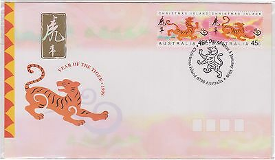 (K42-268) 1998 Christmas Island FDC 90c year of the tiger (K)