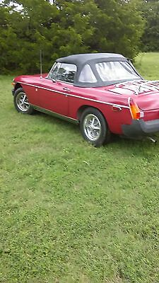 1980 MG MGB beige and black 1980 mg convertble roadster