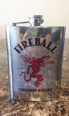 Fireball Whiskey Flask - Stainless Steel,  8 Oz,  Flask