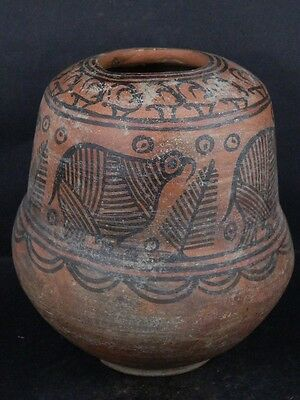 Ancient Huge Size Teracotta Painted Pot With Birds Indus Valley 2500 BC   #Ik454