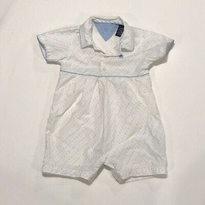 Tommy Hilfiger Baby Toddler Boy Blue & Yellow Anchor Romper Size 12-18 Months