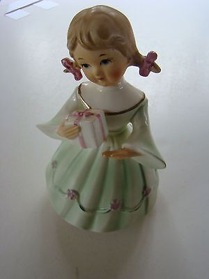 Schmid Brothers Japan Porcelain Girl Figurine 1963 Happy Birthday Song Music Box