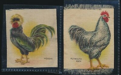 S5 Silks - Lot of 2 - Fowls - Houdan - Plymouth Rock