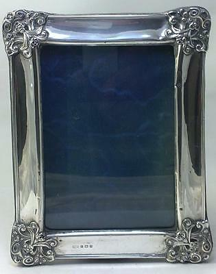 "Antique Art Nouveau hallmarked Sterling Silver-fronted 7"" x 5"" Photo Frame –1907"