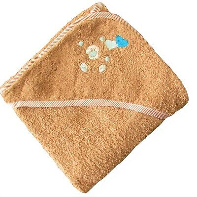 100% Cotton Soft Baby Hooded Towel Unisex Brown Colour for Boys Girls Infants