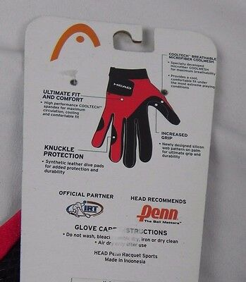 NEW HEAD Black & Red Silicone Web Gloves Size Left Large (G1-3)