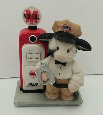 """Mary's  Moo Moos Enesco Cow Figurine """" You Fill My Tank With Love"""" Gas Station"""