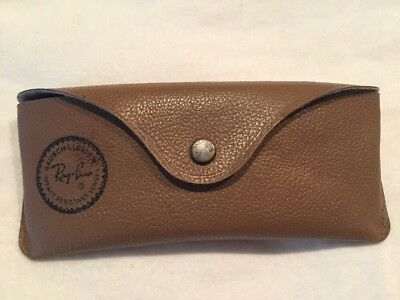 """Vintage Ray-Ban Aviators Sunglasses Case Bausch & Lomb USA - Brown """"Case Only"""""""