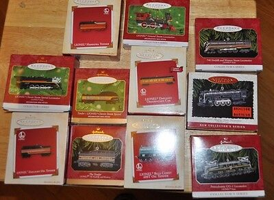 Lot Of 11 Lionel Trains Hallmark Keepsake Ornaments All In Excellent With Boxes