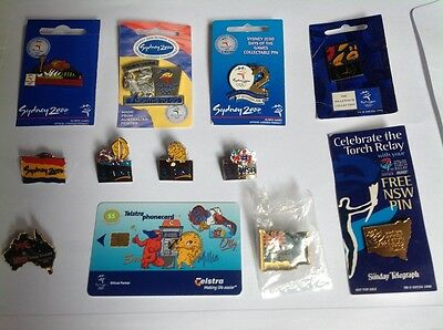 Sydney 2000 games collector badges & phone card in new to good condition -rare.
