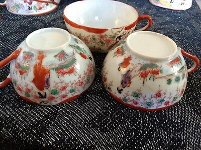 Hand painted tea cups - 3 in set
