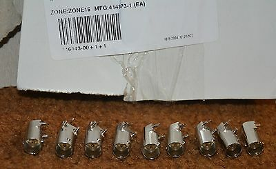 Lot of 9 Female BNC Connector Sockets 50 Ohm Through Hole Right Angle Solder NOS