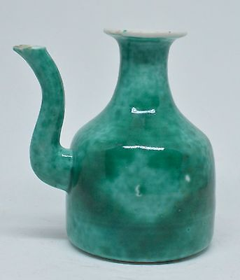 Japanese Green Glazed Small Teapot ~ 4 Inches Tall  ~