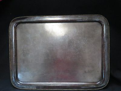 "VINTAGE QUADRUPLE  PLATE ~01015~spider web ""W""mark SILVER TRAY~11 1/2"" x 15"""