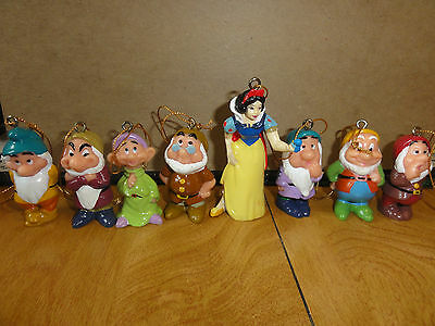 Walt Disney Snow White And The Seven Dwarfs Christmas Ornaments, Brand New!