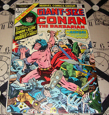 Giant-Size Conan The Barbarian #5 (1975) Bronze Age Marvel Comic VG/FN
