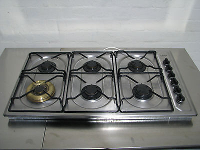 Stainless Steel Natural Gas 6 Burner Cook Top - Chef