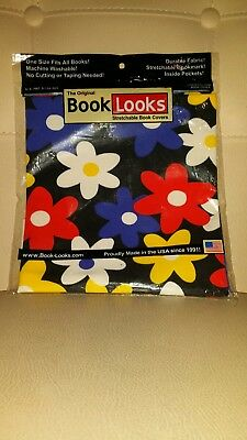 Retro flower print streatchable book cover