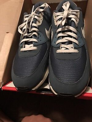 Nike Air Max 90 Essential men's shoes size 15 blue grey