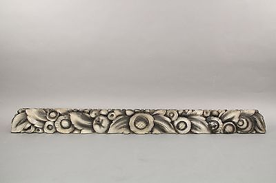 Long Decorative Carved Wood Art Deco Architectural Salvage Element (10541)