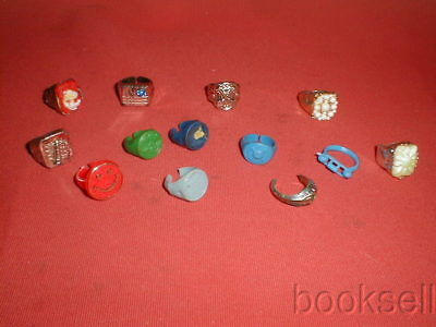 Lot Of Original And Vintage 1950S-60S Gumball Charm Plastic Rings