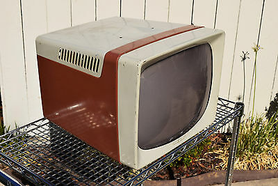 Original 1957 Television GE Hotpoint Portable TV Cabinet Art Deco Prop 17T026