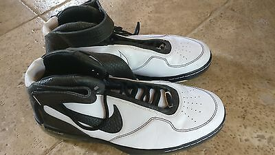 Nike Air Force 25 Basketball Shoes Black and White US Mens Size 18
