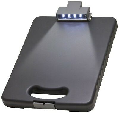 Officemate OIC Deluxe Letter/A4 Size Tablet Clipboard Case with LED Light Cha...