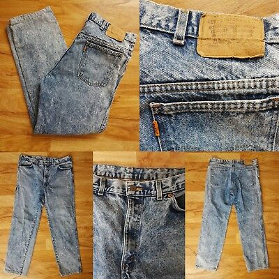 Rare Vintage Acid Wash Levis Jeans~ Orange Tab 1980s~ W36  L40