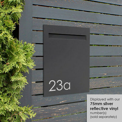 Milkcan Stroud Fence Mount LETTERBOX Wall Charcoal Mailbox Picket Fence
