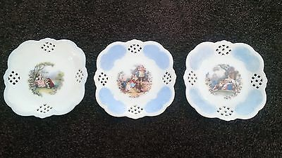 3 Ornate Small Side Plates