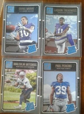 2016 Donruss NFL Football  Rated Rookie card lot
