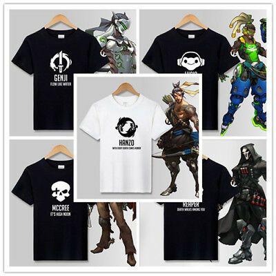 OW Overwatch game T-shirts SOLDIER:76 Reaper Cotton Short Sleeve Unisex T-shirt