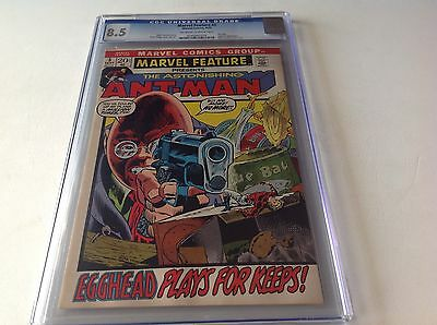 Marvel Feature 5 Cgc 8.5 Ant-Man Wasp Egghead Marvel1972  Free Shipping