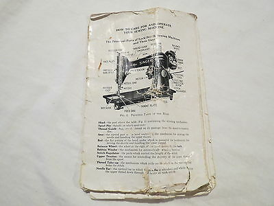 Singer Sewing Machine Vintage 40 Pages Manual Instructions Missing Cover
