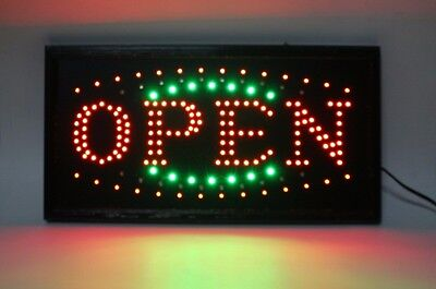 Animated Open Display Flashing LED Sign Neon Light Bar Shop Store Business US-3G
