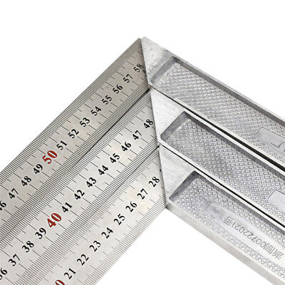Stainless Steel L-Square Angle Ruler Woodworking Measuring Tool 25/30/50/60cm